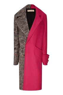 Комбинированное пальто оверсайз Marni