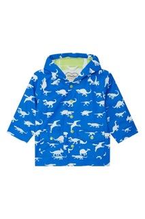 Голубой плащ с динозавриками Hatley
