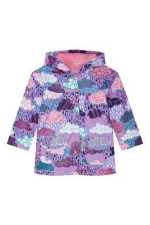 Фиолетовый плащ с разноцветным принтом Hatley