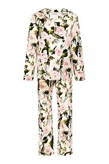 Брючный костюм с цветочным принтом Dolce&Gabbana Children
