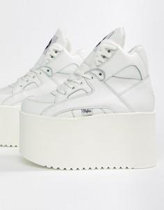 Белые кроссовки на плоской платформе Buffalo - Белый