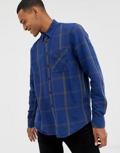Синяя рубашка в клетку Nudie Jeans Co Sten - Синий