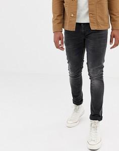 Черные супероблегающие джинсы Nudie Jeans Co Tight Terry - Черный