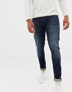 Супероблегающие потертые джинсы Nudie Jeans Co Tight Terry - Синий