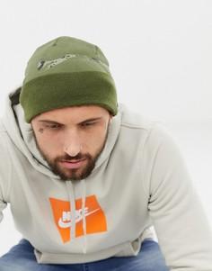 Зеленая шапка-бини с логотипом Nike 876501-396 - Зеленый