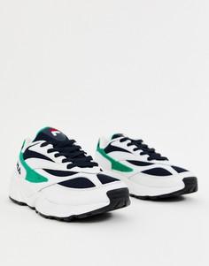 Бело-сине-зеленые кроссовки Fila Venom - Белый