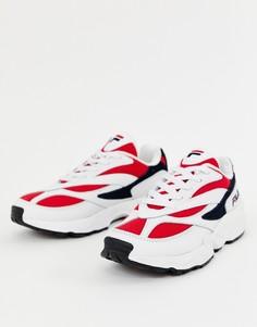 Бело-сине-красные кроссовки Fila Venom - Белый
