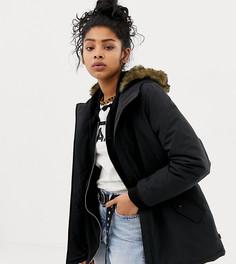 Черное пальто с подкладкой из искусственного меха Vans - Черный