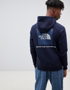 Худи темно-синего цвета с рукавами реглан The North Face - Темно-синий
