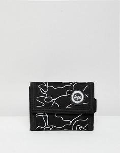 Черный камуфляжный бумажник Hype - Черный