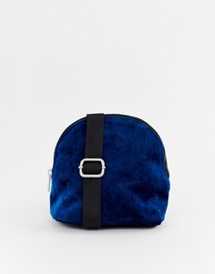 Бархатная сумка Pieces Kimora - Синий