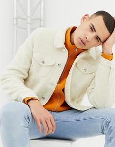 Светло-бежевая флисовая куртка в стиле вестерн ASOS DESIGN - Бежевый
