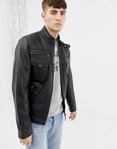Куртка премиум-класса в стиле мотокросса Schott - Черный