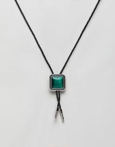 Ожерелье с подвеской в стиле вестерн 7X - Зеленый
