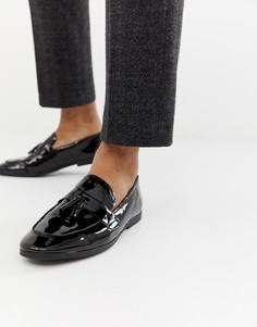 Черные лакированные лоферы с кисточками New Look - Черный