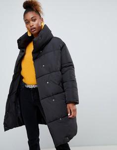 Удлиненная дутая куртка Monki - Черный