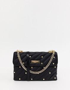 Черная сумка на плечо с заклепками River Island - Черный