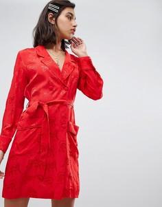 50fd4890c9f Жаккардовое платье с тигровым принтом Fabienne Chapot Ami - Красный