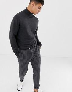 Джемпер с отворачивающимся воротом Selected Homme - Серый