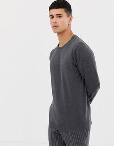 Джемпер с круглым вырезом Selected Homme - Серый
