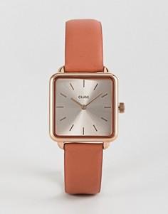 Часы с розовым кожаным ремешком CLUSE La Garconne CL60010 - Розовый