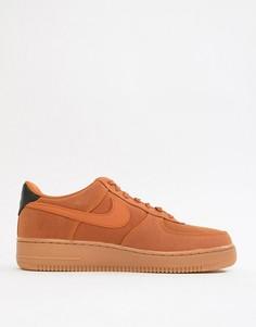 Светло-коричневые кроссовки с резиновой подошвой Nike Air Force 1 07 Style AQ0117-800 - Рыжий