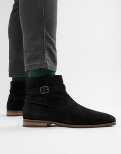 Замшевые ботинки-джодпуры на молнии KG by Kurt Geiger - Черный
