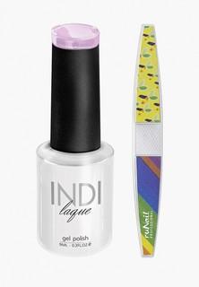 Набор для ухода за ногтями Runail Professional пилка для ногтей и Гель-лак INDI laque, 9 мл №3718