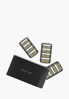 Сменные кассеты для бритья Shave Lab P.6+1 FOR MEN 6 лезвий+триммер, набор сменных кассет- 12 шт.