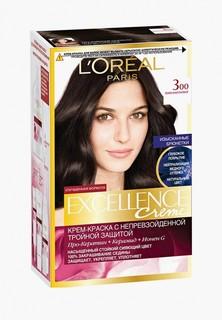 """Краска для волос LOreal Paris LOreal """"Excellence"""", оттенок 3.00, Темно-каштановый"""