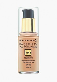 Тональное средство Max Factor Facefinity All Day Flawless 3-in-1 55 тон beige Facefinity All Day Flawless 3-in-1 55 тон beige