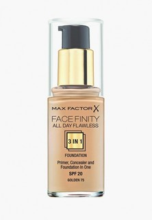 Тональное средство Max Factor Facefinity All Day Flawless 3-in-1 75 тон golden Facefinity All Day Flawless 3-in-1 75 тон golden