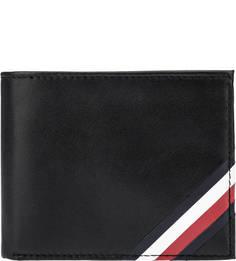 Черное портмоне из натуральной кожи Tommy Hilfiger