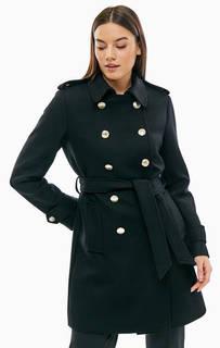 Двубортное шерстяное пальто с поясом Tommy Hilfiger