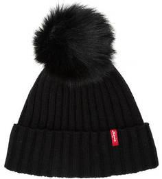 Комплект из шапки и шарфа черного цвета Levis