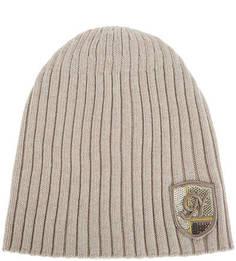 Шерстяная шапка крупной вязки с нашивкой Noryalli