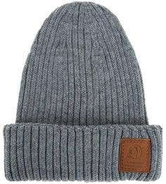 Серая полушерстяная шапка крупной вязки Noryalli