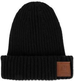 Черная полушерстяная шапка крупной вязки Noryalli