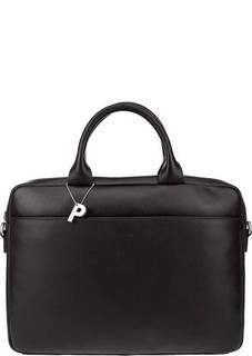 Коричневая сумка из натуральной кожи Picard