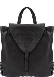Сумка-рюкзак из мягкой кожи черного цвета Aunts &; Uncles