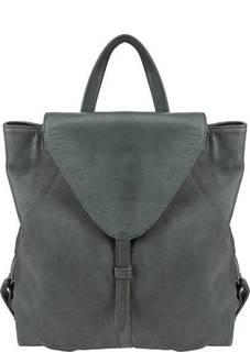 Сумка-рюкзак из мягкой кожи цвета хаки Aunts &; Uncles