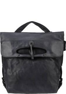 Сумка-рюкзак из натуральной кожи темно-синего цвета Aunts &; Uncles