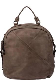 Коричневая сумка-рюкзак из натуральной кожи Aunts &; Uncles