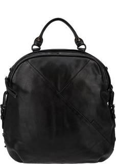 Черная сумка-рюкзак из натуральной кожи Aunts &; Uncles