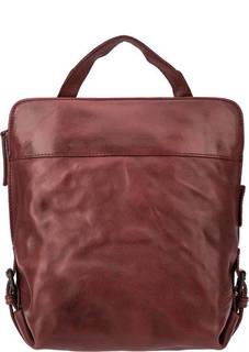 Кожаная сумка-рюкзак красного цвета Aunts &; Uncles