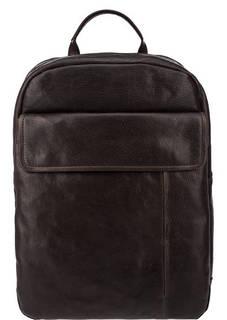 Вместительный кожаный рюкзак с двумя отделами Aunts &; Uncles