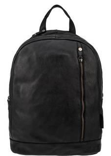 Черный кожаный рюкзак с двумя отделами Aunts &; Uncles