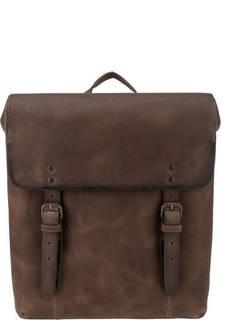 Коричневый рюкзак из гладкой кожи Aunts &; Uncles