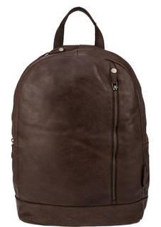 Коричневый кожаный рюкзак с двумя отделами Aunts &; Uncles