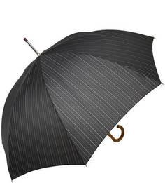 Зонт-трость в полоску с деревянной ручкой Doppler